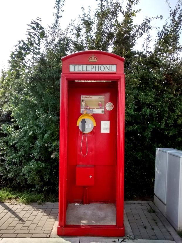 ¿Una cabina londinense en pleno centro de Alemania?