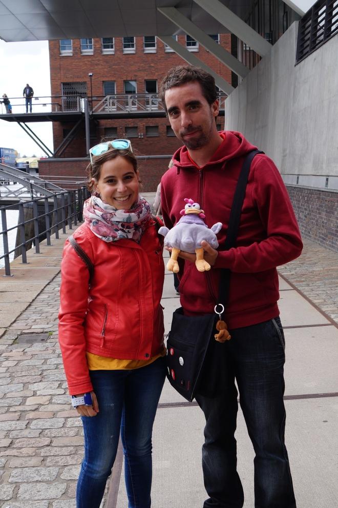 Aquí estamos Marta y yo con nuestro guía Antonio.