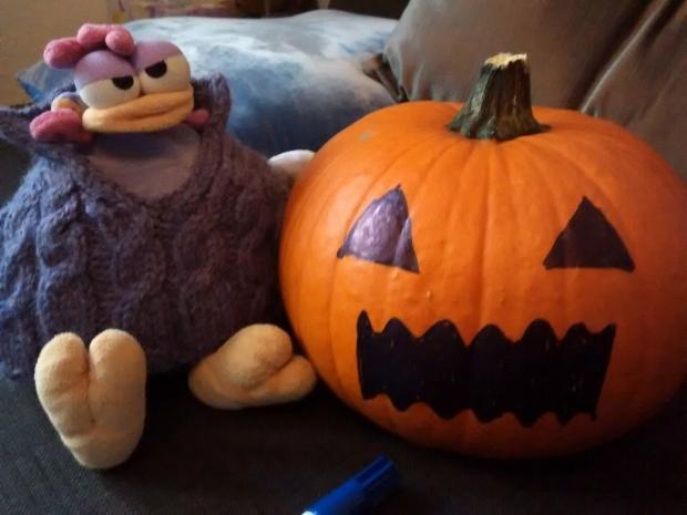 ¿Qué os parece mi calabaza de Halloween?